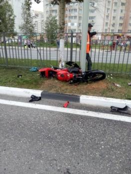 В Сети появилось видео со смертельным заездом мотоциклиста на проспекте Фрунзе