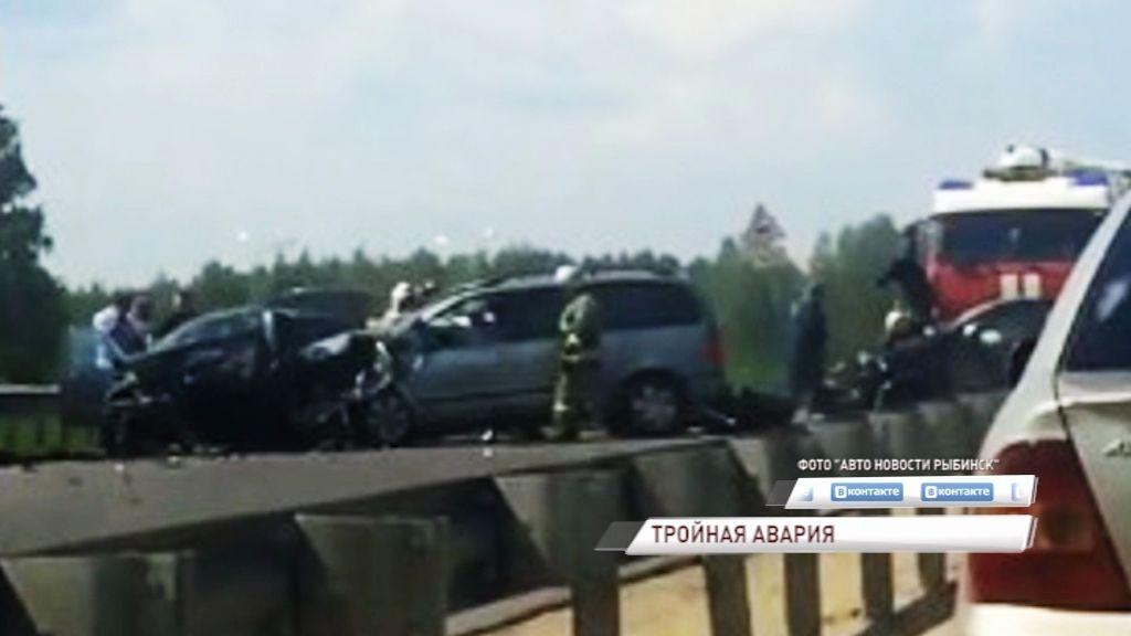 Тройное ДТП в Рыбинске: есть пострадавшие