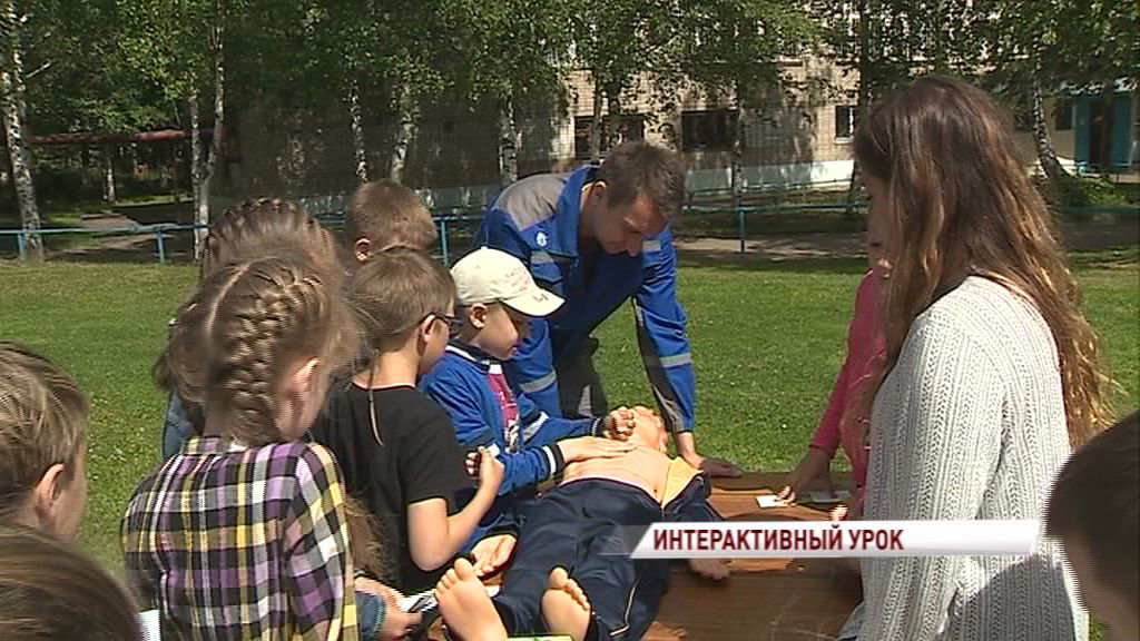 Энергетики провели урок электробезопасности в детском лагере