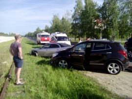 В Рыбинске столкнулись две иномарки: пострадал ребенок