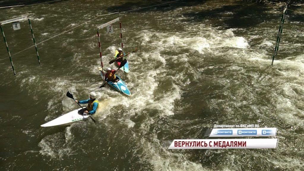 Ярославцы привезли три медали с первенства страны по гребному слалому
