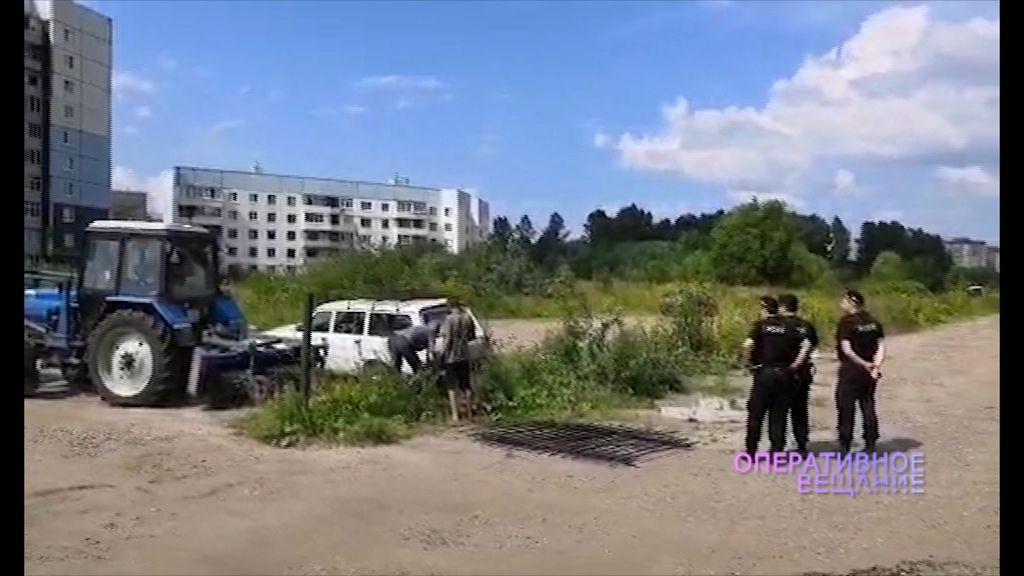 В Дзержинском районе снесли незаконную автостоянку