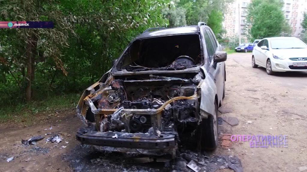 В Рыбинске на улице Боткина сгорела иномарка