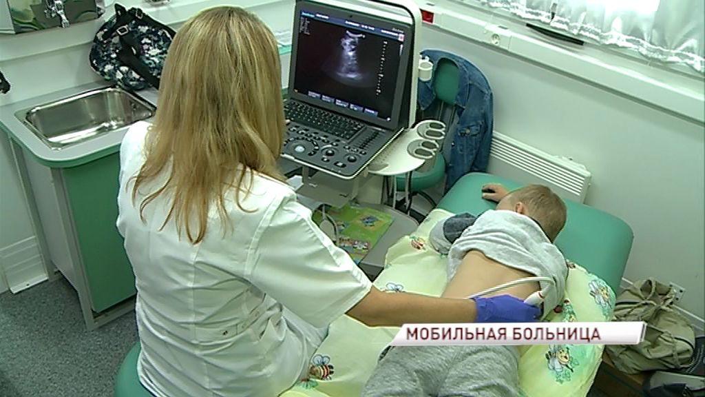 В поселке Октябрьском Рыбинского района мобильная бригада врачей из ЦРБ осмотрела детей