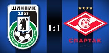 «Шинник» сыграл вничью со «Спартаком-2» в первом домашнем матче сезона
