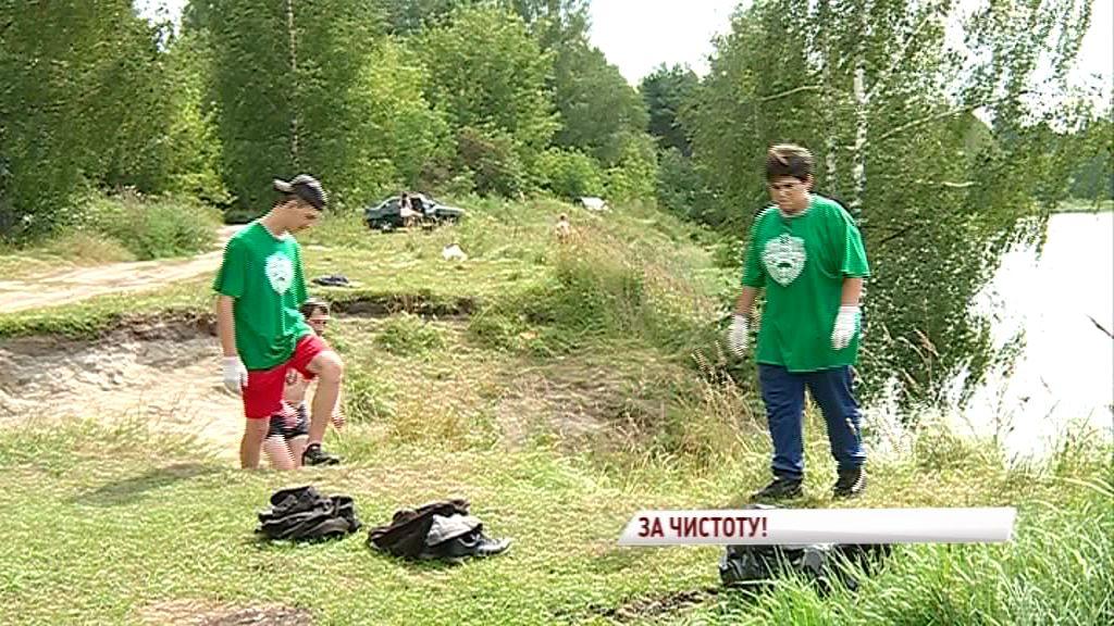 Эко – волонтеры очистили от мусора озеро «Техас»