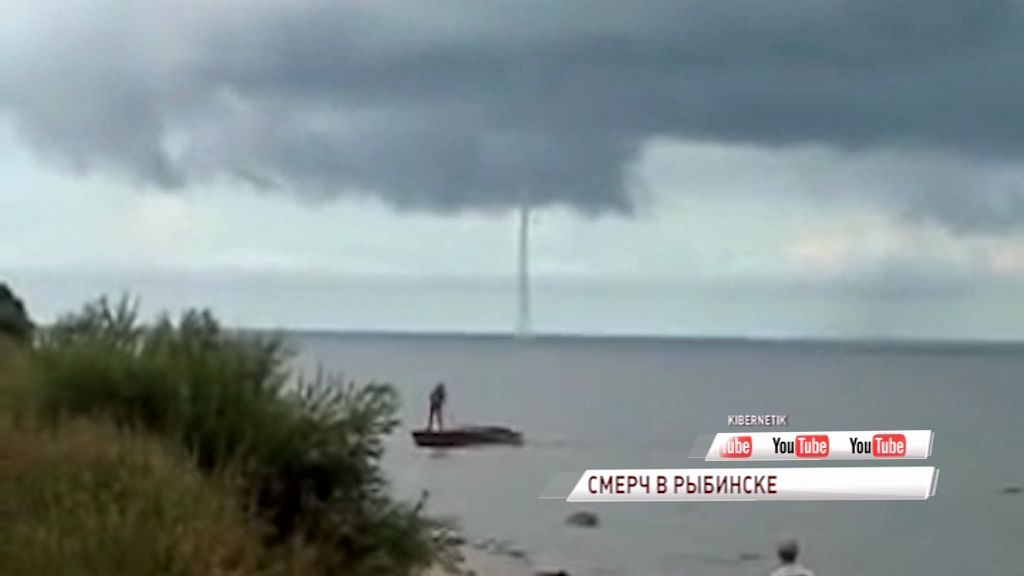 ВИДЕО: ужасный смерч накрыл Рыбинское водохранилище