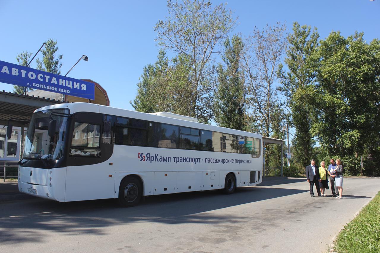 «Делаем вместе»: жители Большесельского района получили два новых автобусных маршрута