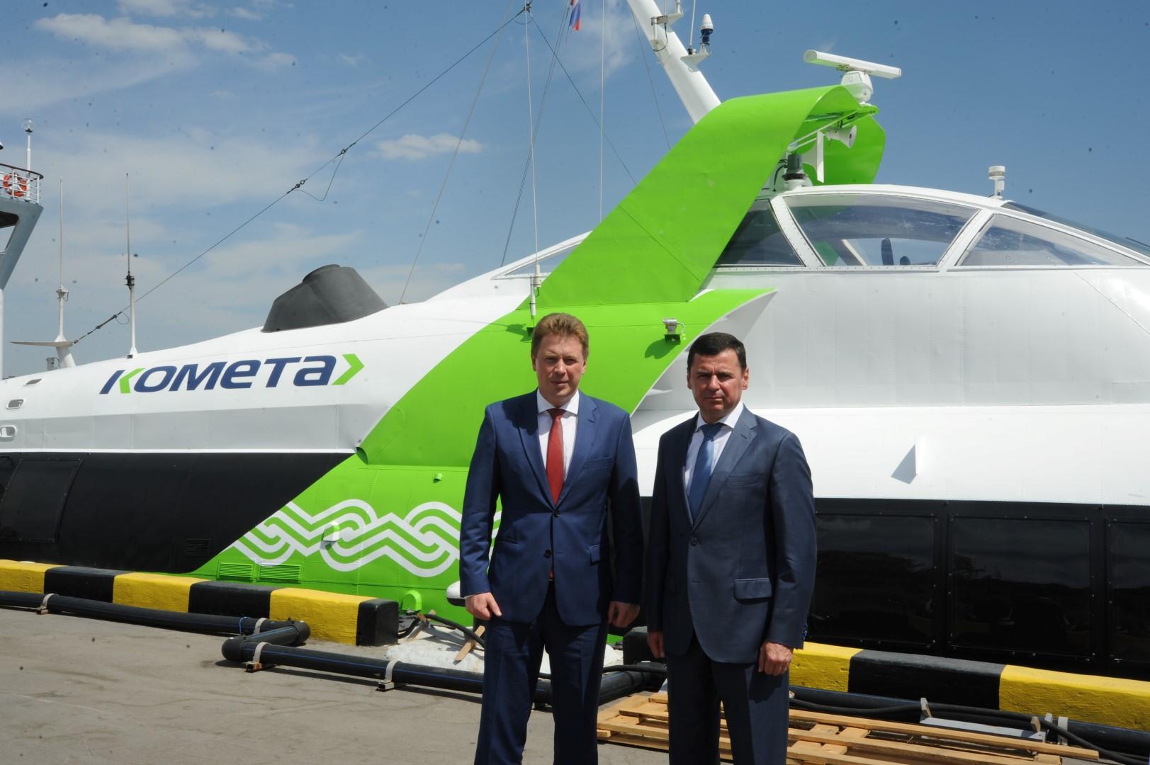 Дмитрий Миронов побывал на рыбинской «Комете» в Севастополе
