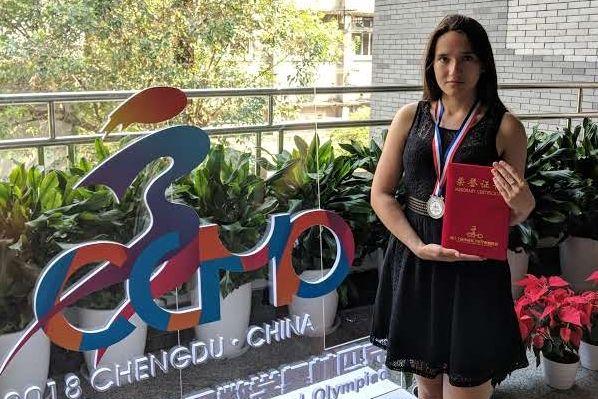 Ярославна завоевала «серебро» на Всекитайской математической олимпиаде