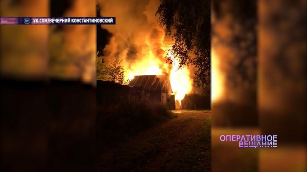 Пожар в Тутаевском районе уничтожил сарай