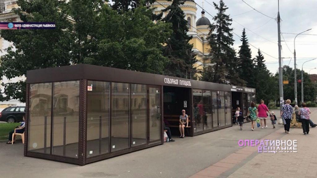 Вандалы разнесли модернизированную остановку в Рыбинске