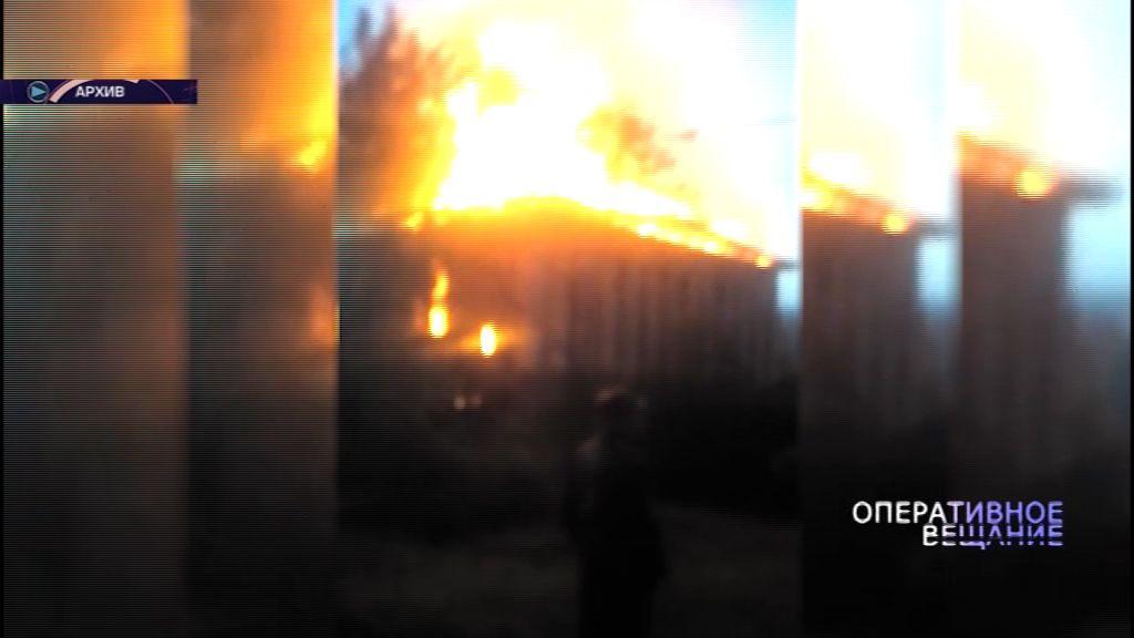 В Заволжском районе сгорел жилой дом