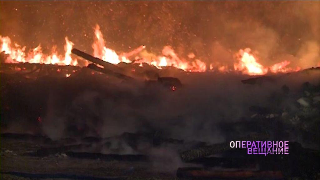 В Гаврилов-Яме полностью выгорел жилой дом