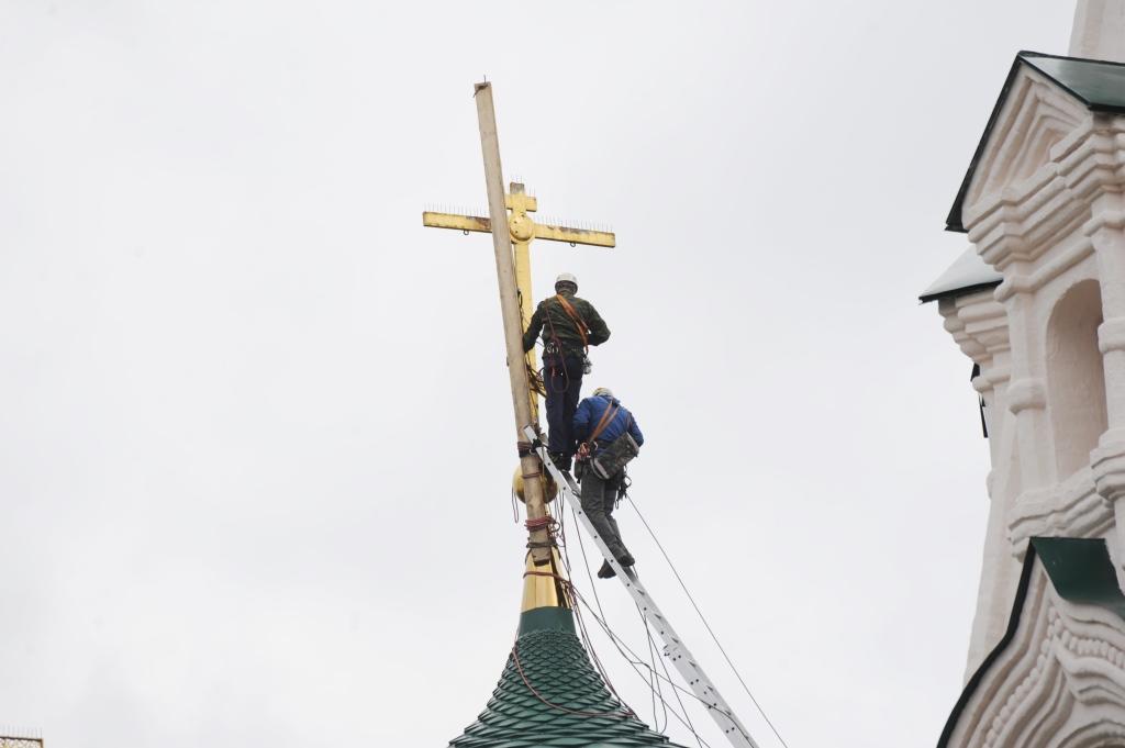 С храма Ильи Пророка снимут кресты