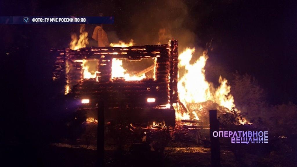 Жилой дом сгорел в деревне Крутогорово Рыбинского района