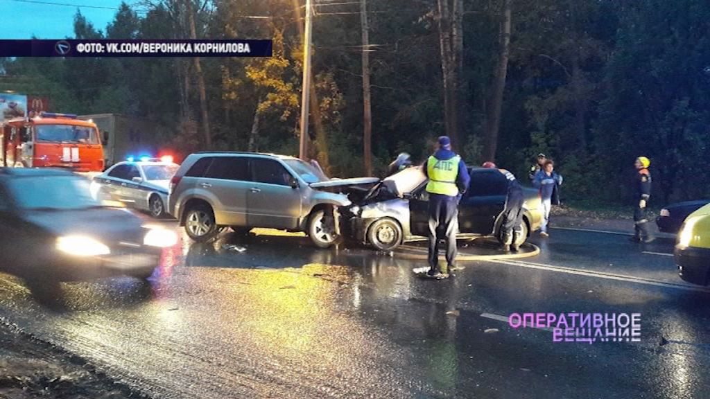Два человека пострадали в ДТП на улице Нефтяников в Ярославле