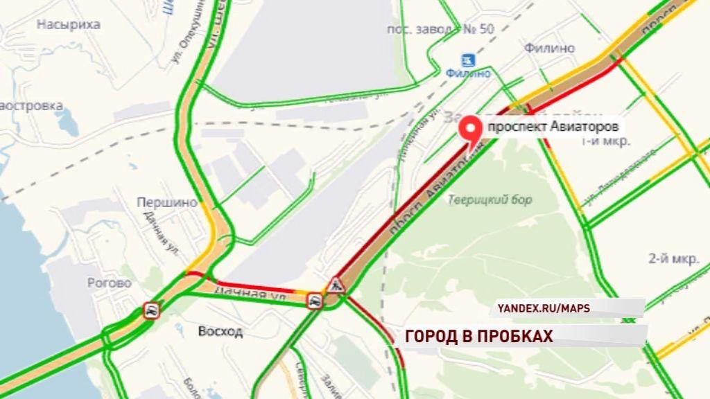 Ярославцы опоздали на работу из-за пробок на трех крупнейших проспектах города