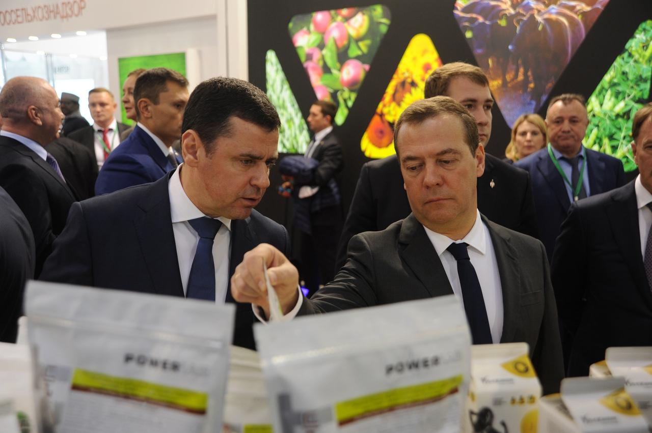 Стенд Ярославской области на выставке «Золотая осень» посетил Дмитрий Медведев