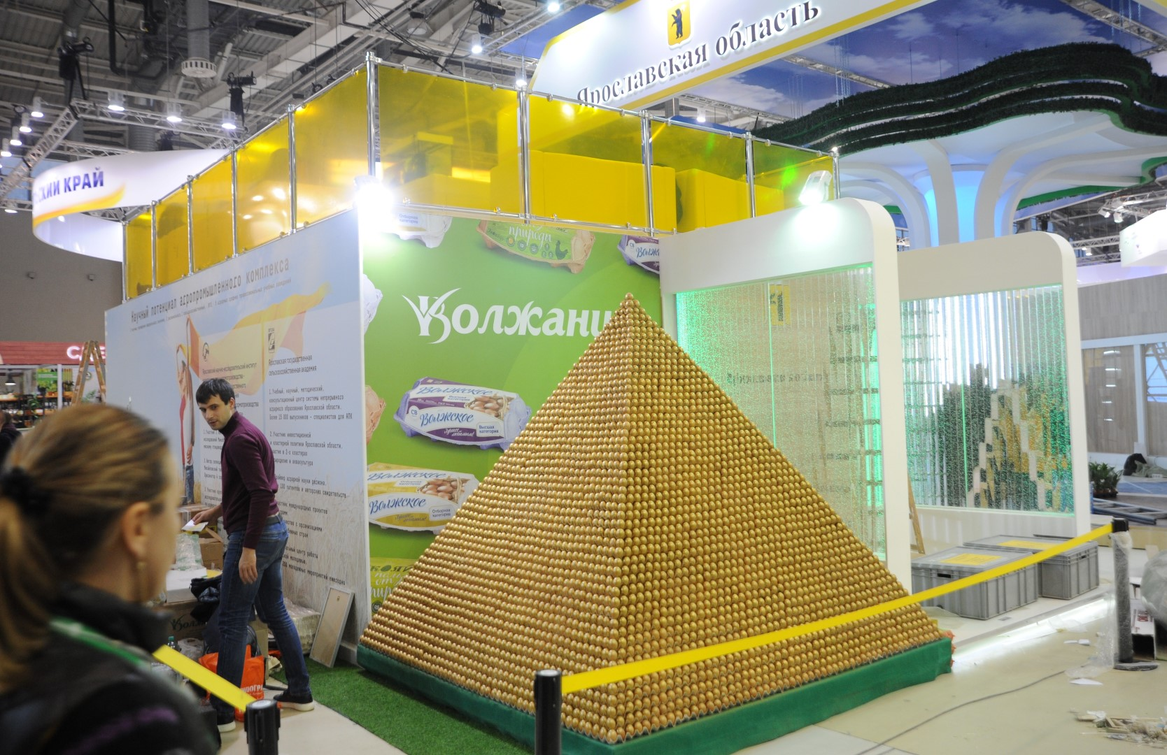 Рыбинская птицефабрика построила пирамиду из яиц и побила рекорд книги Гиннесса