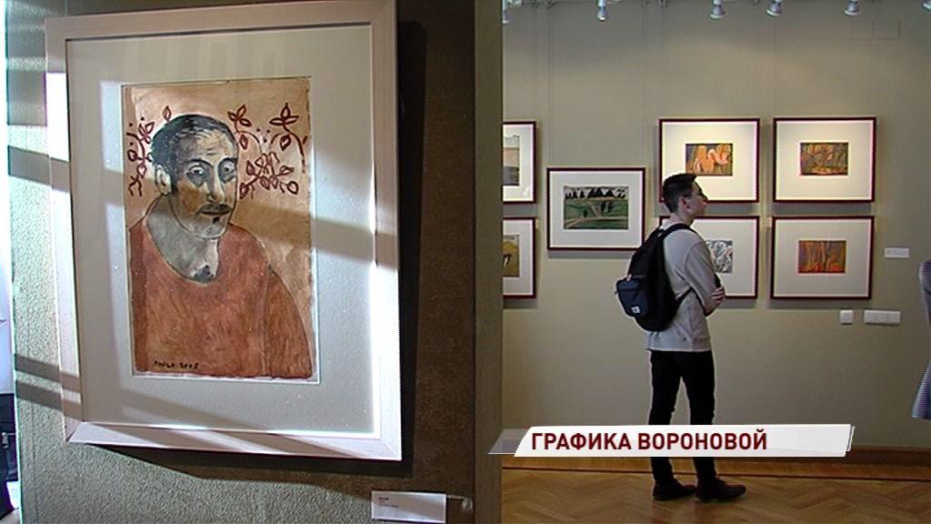 «В каждом человеке она ищет Человека»: в Ярославле открылась выставка Люси Вороновой