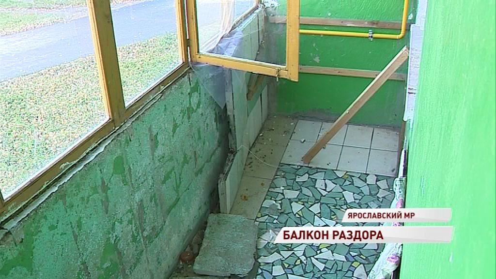 Жительнице Григорьевского отключили газ из-за ветхого балкона, который никто не хочет ремонтировать