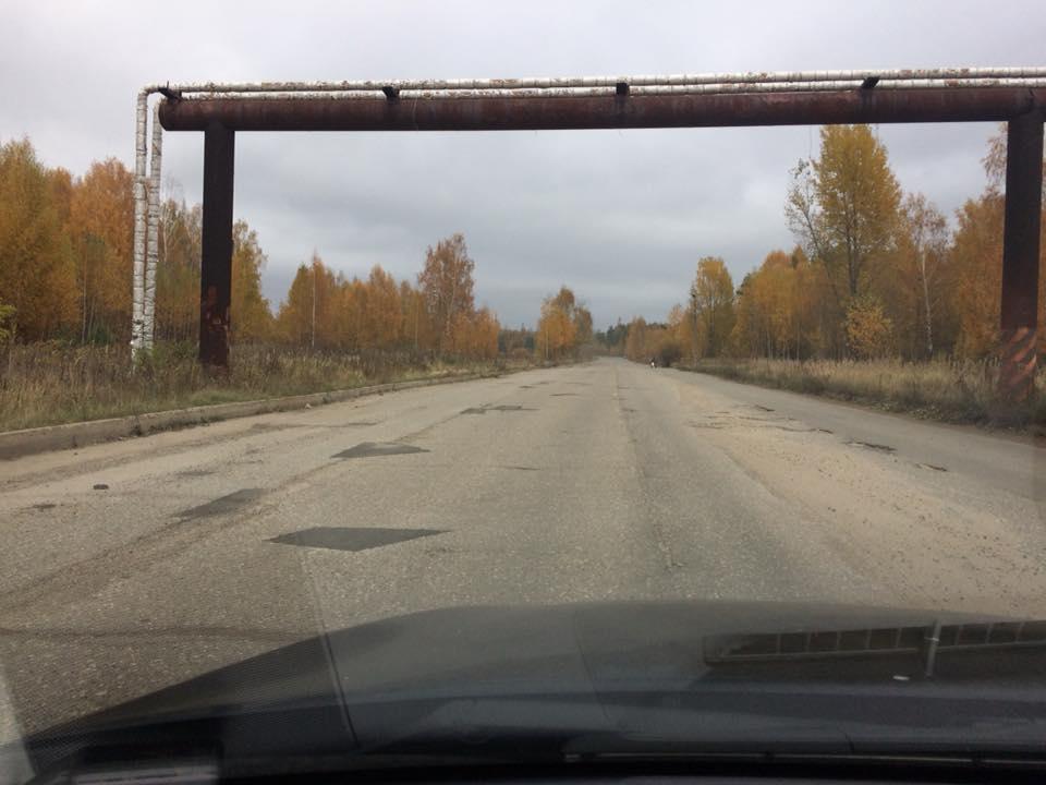 Ярославец за собственный счет отремонтировал часть дороги