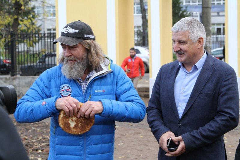 Федор Конюхов встретился с рыбинскими белочками