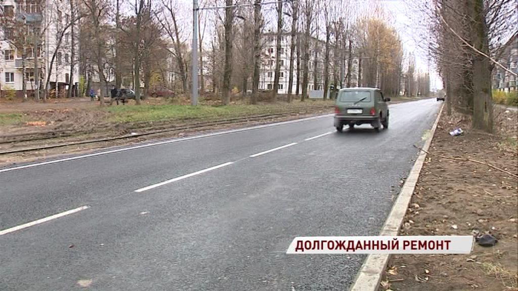 Дорожный ремонт на улице Блюхера близится к завершению
