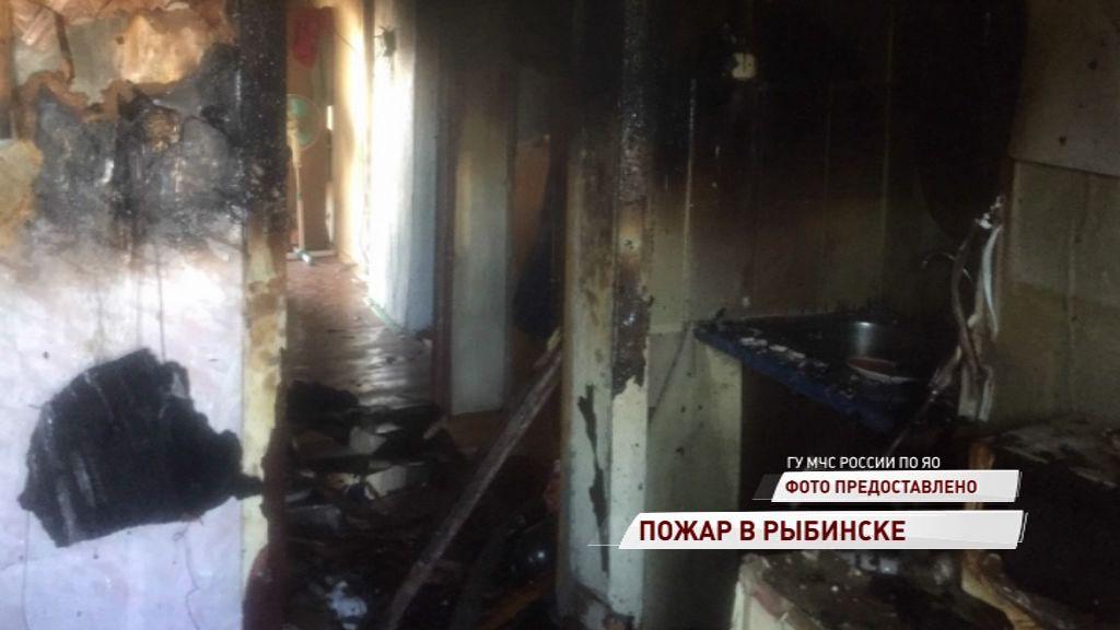 В Рыбинске загорелась квартира в трехэтажном доме