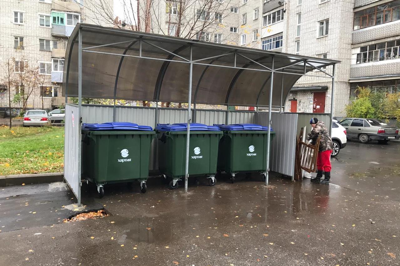 В Рыбинске появилось сто новых евроконтейнеров для мусора