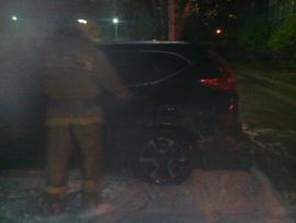 В Рыбинске неизвестный сжег автомобиль