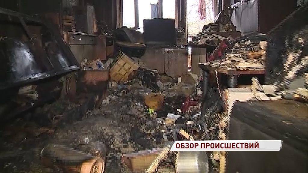 Пенсионер попал в больницу после пожара в квартире