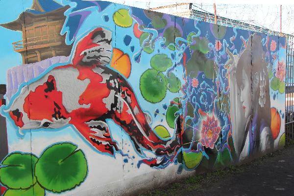Осужденные рыбинской колонии раскрасили стены родного исправительного учреждения