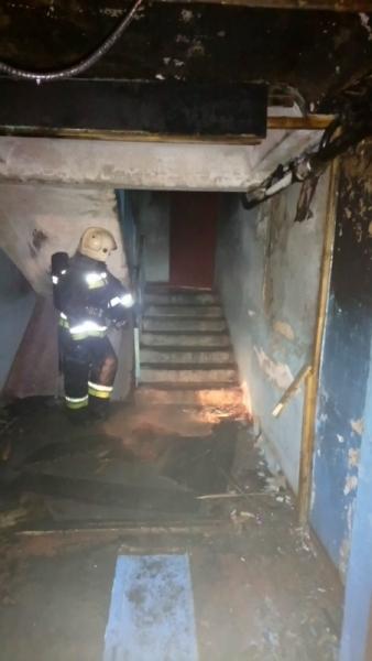 В Заволжском районе загорелась многоэтажка