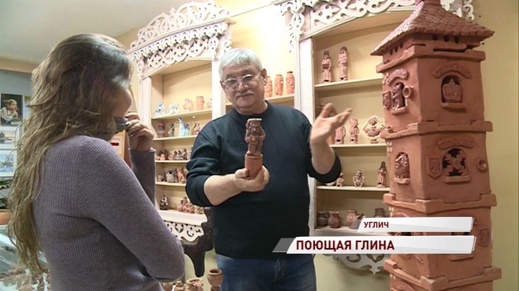 Художник-керамист из Углича впервые за свою творческую карьеру выставляется в родном городе