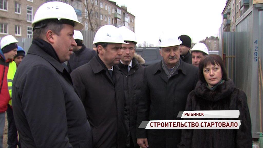 В Рыбинске построят новые ясли: Дмитрий Миронов посетил строительную площадку
