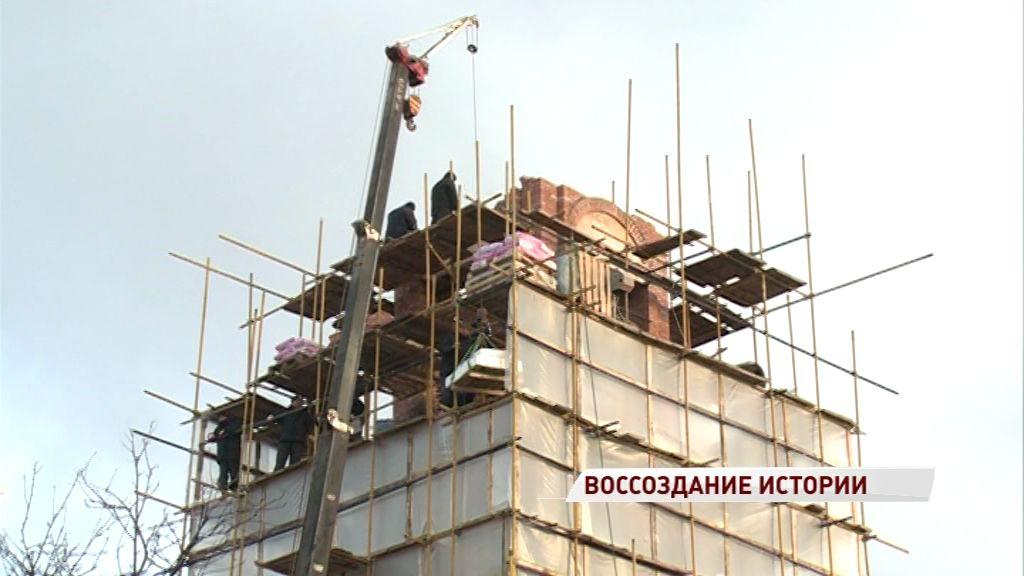Строительство колокольни Спасо-Пробоинского храма выходит на финишную прямую