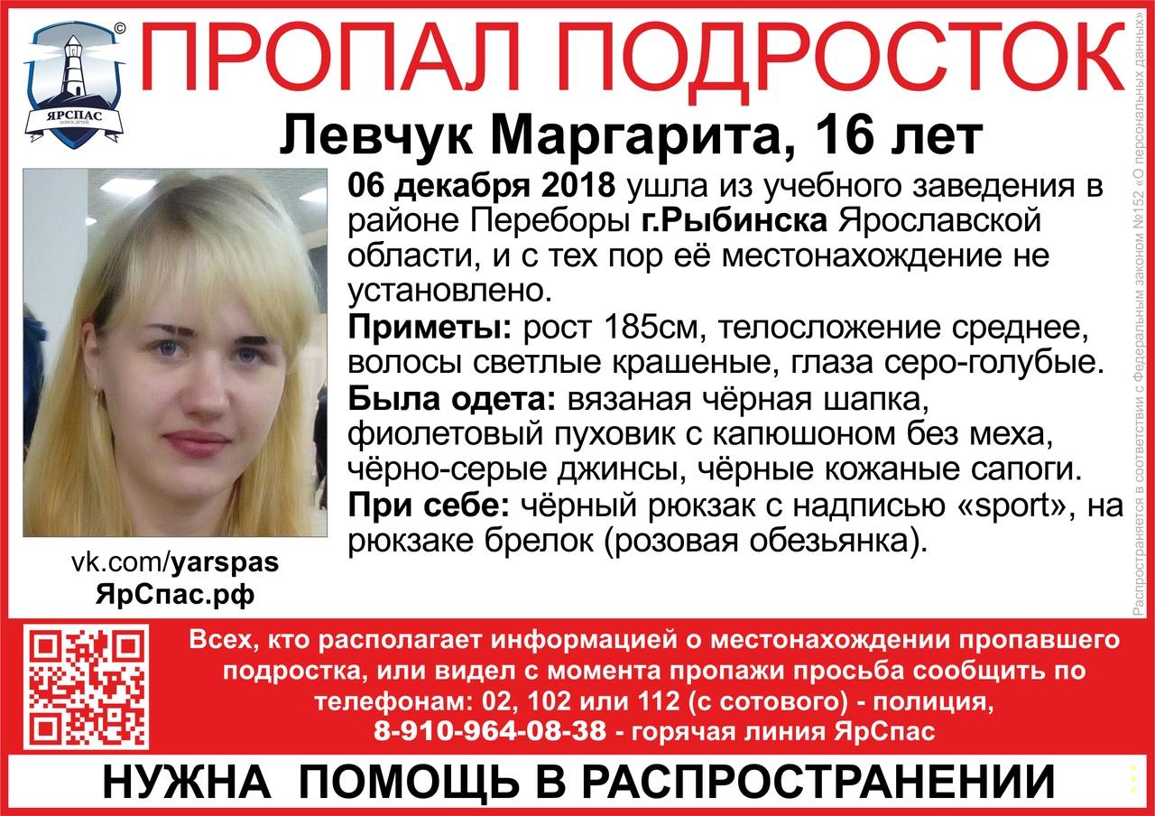 В Рыбинске второй день ищут 16-летнюю школьницу