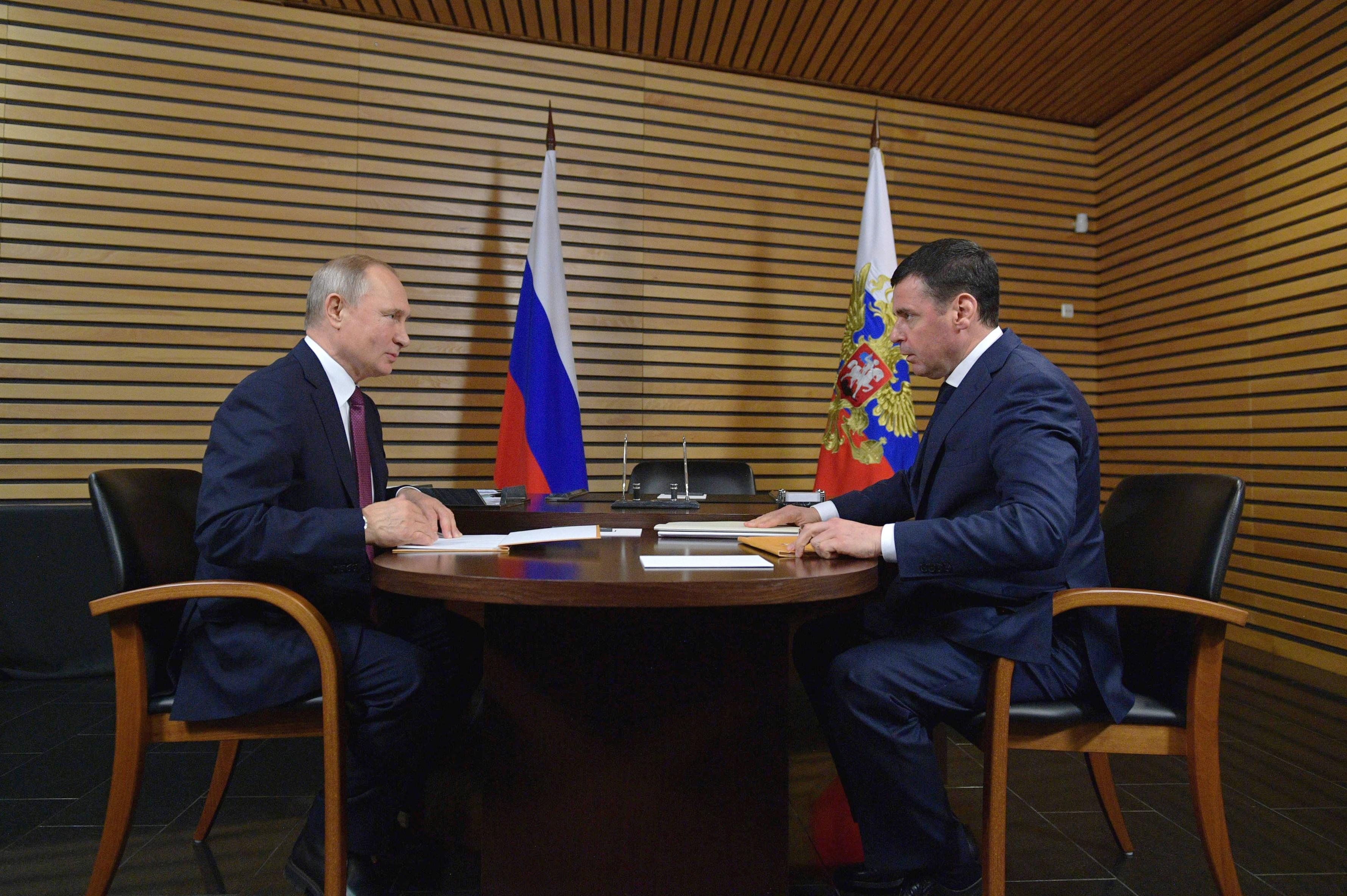 Дмитрий Миронов на встрече с Владимиром Путиным обсудил достижения и перспективы области