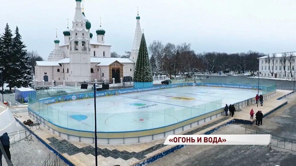 Каток на Советской площади откроют красивым шоу
