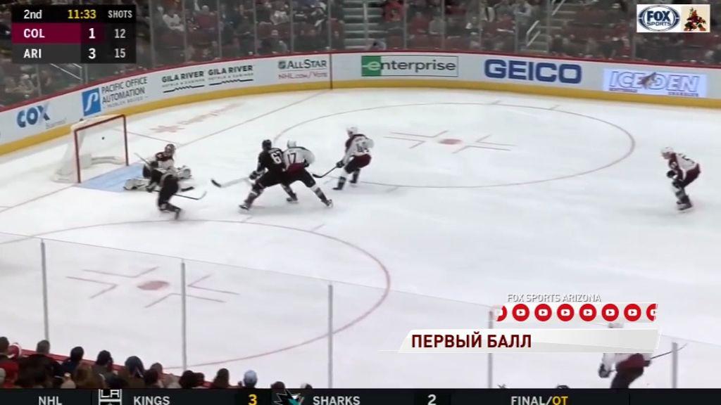 Илья Любушкин набрал первый балл в НХЛ