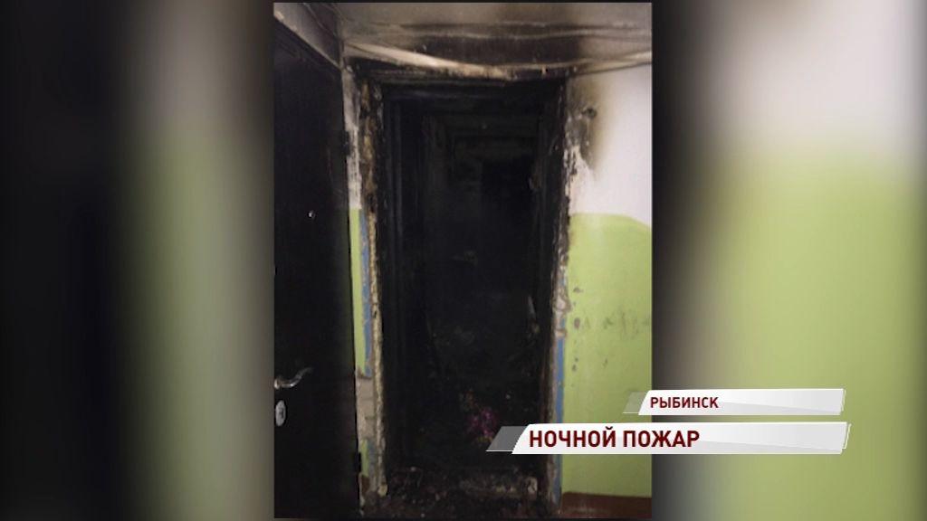 Жилая квартира сгорела в Рыбинске