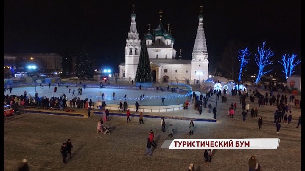 В новогодние праздники Ярославскую область посетили более 130 тысяч туристов