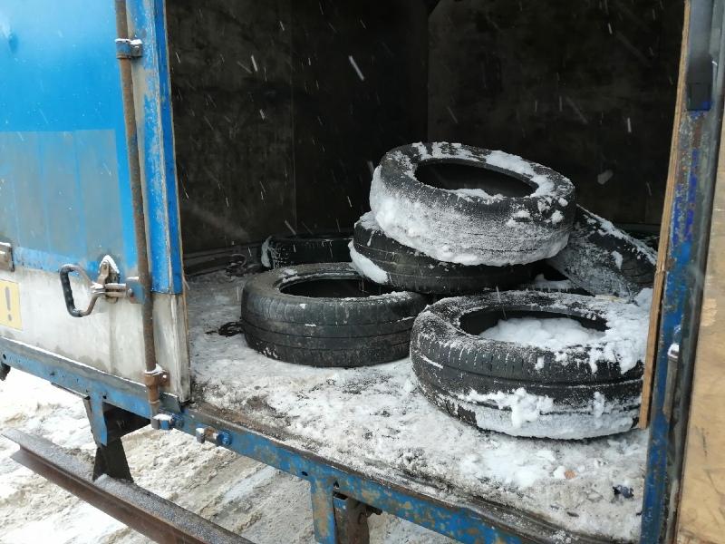 В Рыбинске начали собирать старые шины для их дальнейшей переработки