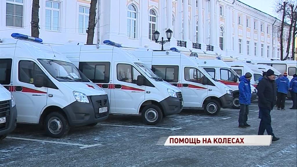 С Советской площади в первый рейс отправились новые медицинские автомобили: где их ждут