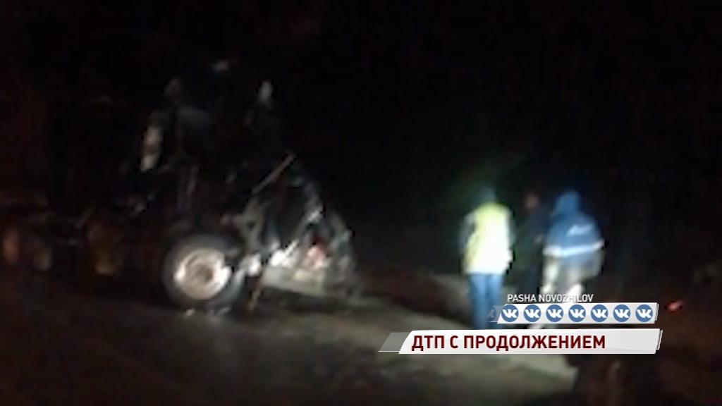 В Ростовском районе лоб в лоб столкнулись две фуры