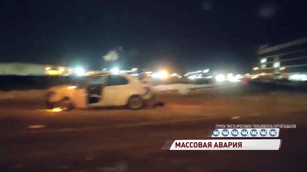 Массовое ДТП на Костромском шоссе: один водитель в больнице