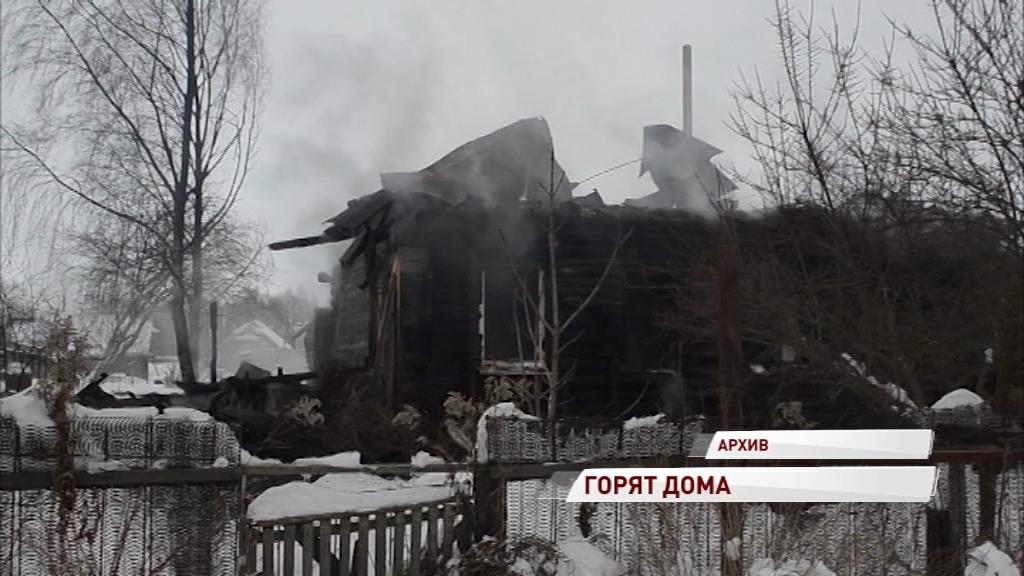 В Рыбинске полыхали два крупных пожара