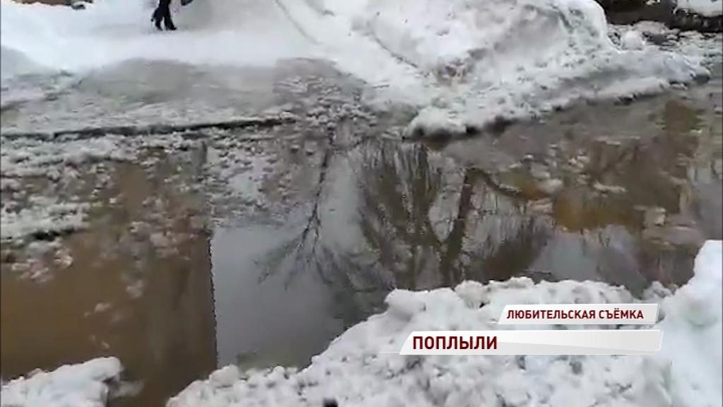 Растаявший снег превратит улицы Ярославля в большой каток